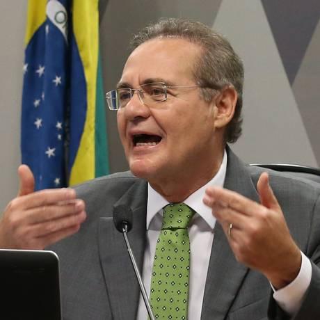 O presidente do Senado, Renan Calheiros (PMDB-RJ) Foto: Ailton de Freitas / Arquivo O Globo - 6/5/2015
