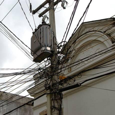 Cabos de fornecimento de energia em Botafogo Foto: Andre Vierira / Bloomberg News