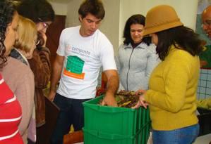 Oficina com participantes do programa Composta SP, na capital paulista. Foto: Divulgação / Agência O Globo