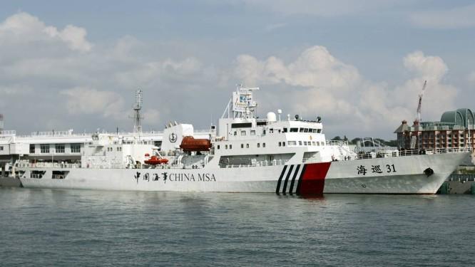 Haixun 31, maior navio de patrulha da Marinha chinesa no Mar da China Meridional. Ocupação em territórios disputados na região quadruplicou em 2015, afirmou relatório do Pentágono divulgado nesta sexta-feira Foto: Wong Maye-E / AP