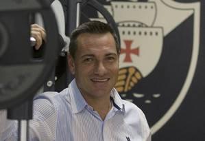 O técnico Doriva está otimista com o que o Vasco pode fazer no Brasileirão Foto: ANTONIO SCORZA / Agência O Globo