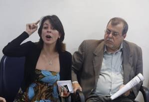 Elisa Quadros, conhecida como Sininho, durante debate na sede do sindicato dos jornalista, em julho de 2014 Foto: Hudson Pontes / Agência O Globo
