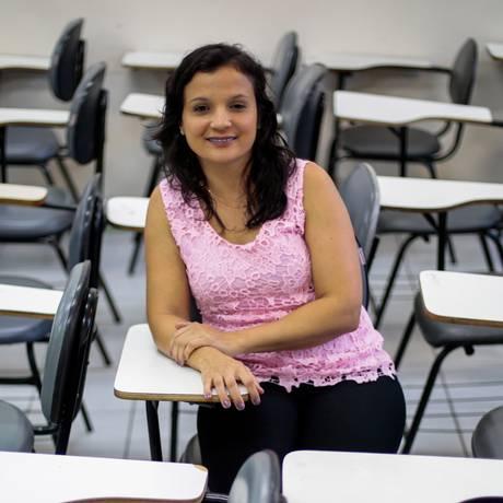 Monique Silva, aluna de Pedagogia Foto: Pedro Kirilos