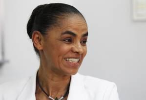 Em entrevista coletiva, Marina Silva elogia líder dos tucanos Foto: Jorge William/23-11-2014 / Agência O Globo