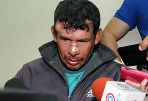 Gilberto Benitez Zarate é acusado de estuprar enteada de 10 anos Foto: NORBERTO DUARTE / AFP