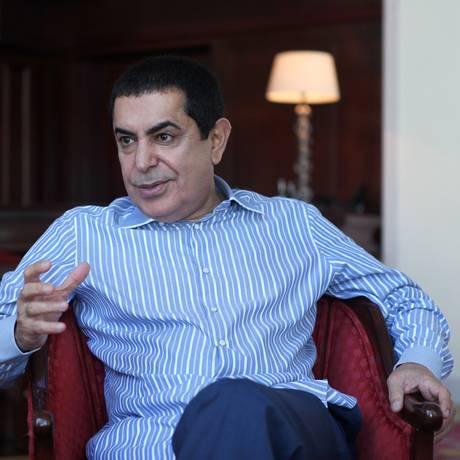 Nassir Abdulaziz Al-Nasser: 'Sinto vergonha de ver a Síria caindo aos pedaços' Foto: Angelo Antônio Duarte / Agência O Globo