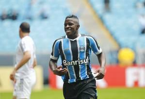 Yuri Mamute marcou dois gols no empate em 3 a 3 com a Ponte Preta Foto: Divulgação/Grêmio