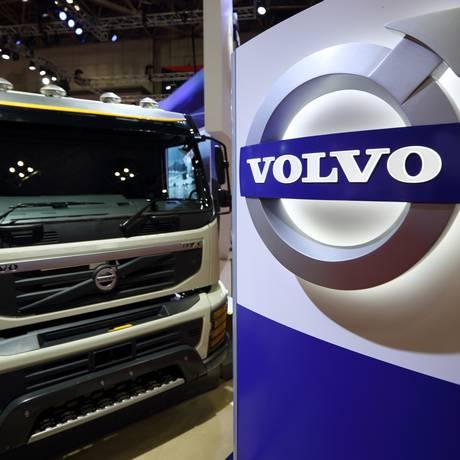 Caminhão da Volvo em exposição no salão de Tóquio Foto: Tomohiro Ohsumi / Bloomberg News