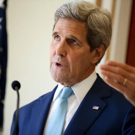 Kerry: a caminho de Moscou Foto: Andrew Harnik / AP/6-5-2015