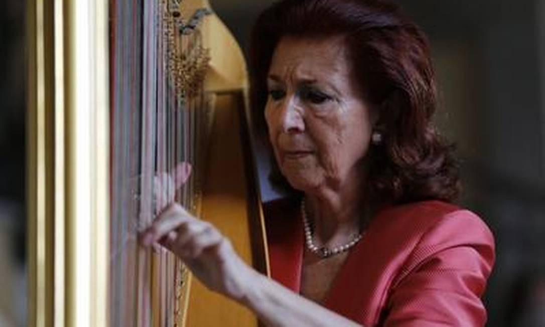 María Rosa Calvo y MAnzano é a única doutora em harpa da Espanha. No Brasil, ela participou do Rio Harp Festival Foto: Guito Moreto