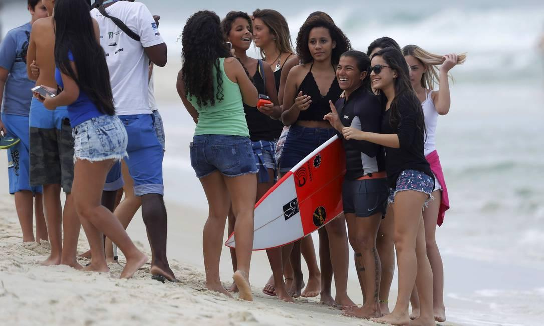Quem também foi muito assediada foi Silvana Lima Marcelo Piu / O Globo