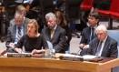 Federica Mogherini defende esboço diante do Conselho de Segurança Foto: Loey Felipe / AFP