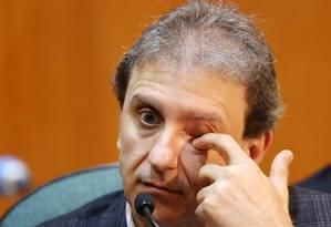 Doleiro Alberto Youssef presta depoimento à CPI da Petrobras Foto: RODOLFO BUHRER / REUTERS