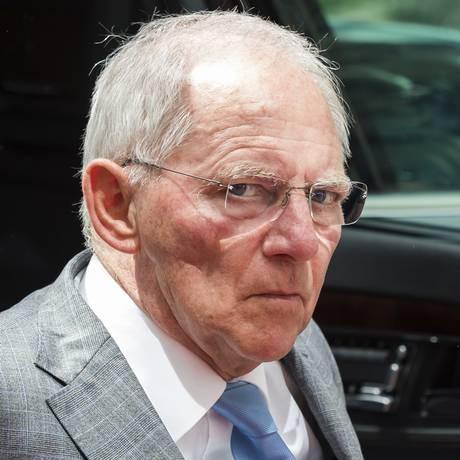 O ministro das Finanças alemão, Wolfgang Schäuble, em Bruxelas Foto: Geert Vanden Wijngaert / AP