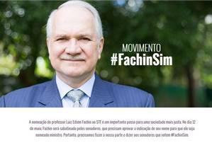 Site de apoio ao indicado ao STF Foto: fachinsim.com.br / Reprodução