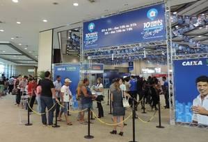 Pagamento já. Feirão da Caixa em 2014: este ano banco reduziu vantagens Foto: Divulgação / Divulgação
