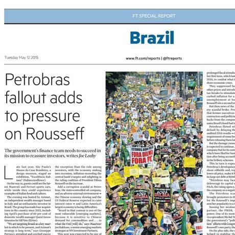 Reprodução do especial do 'FT' sobre o Brasil Foto: Reprodução de internet