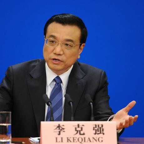 O primeiro-ministro chinês Li Keqiang Foto: WANG ZHAO / AFP