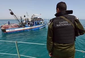 Europa tem apelado a países como Líbia e Tunísia para reduzir fluxo de imigrantes Foto: FETHI BELAID / AFP