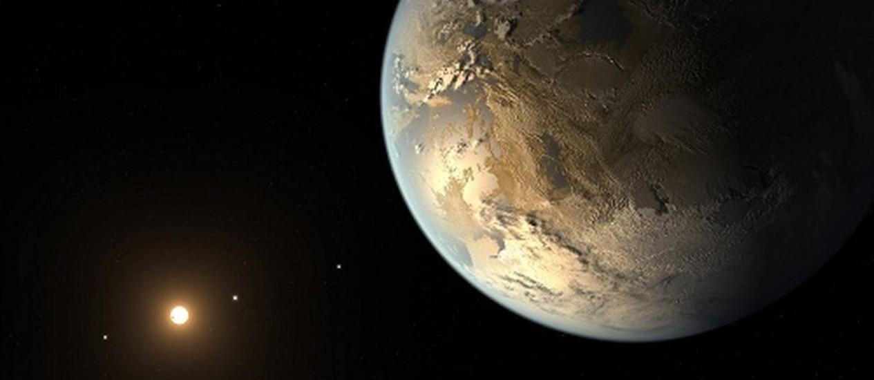 Ilustração de um planeta extrassolar: clima é variado como o da Terra e outros planetas do Sistema Solar Foto: NASA/JPL-Caltech/T. Pyle