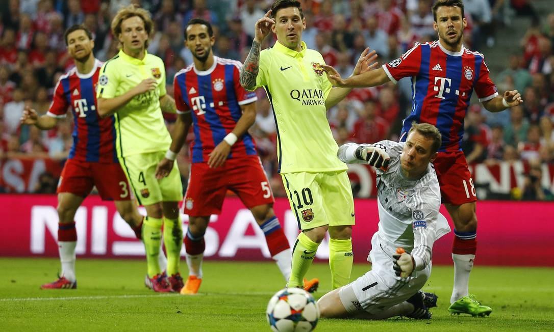 Bayern x Barcelona, em Munique: jogo equilibrado, e missão complicada para o time alemão Kai Pfaffenbach / REUTERS