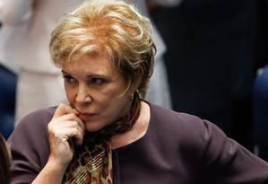 A senadora Marta Suplicy Foto: Andre Coelho / Arquivo O Globo 23/04/2015
