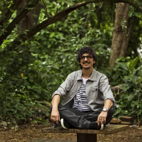 O Parque do Martelo, a área verde do Humaitá, é o local ideal para Pedro Luís se desligar da rotina Foto: Guilherme Leporace/Agência O Globo