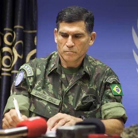 O general brasileiro Carlos Alberto dos Santos Cruz: líder da missão da ONU na República Democrática do Congo Foto: Divulgação/Monusco