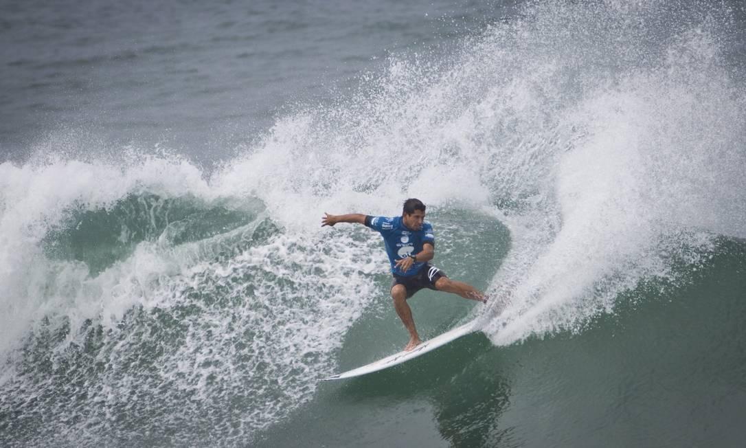De novo Alex Ribeiro, representante do surfe paulista Guito Moreto / Agência O Globo