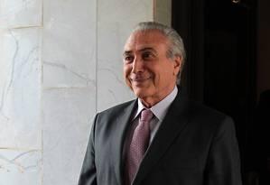 O vice-presidente Michel Temer Foto: Jorge William / Arquivo O Globo 04/05/2015