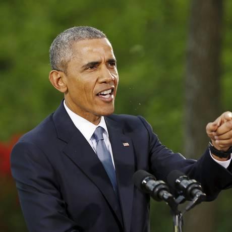 Barack Obama. Presidente americano reafirmou compromisso coma segurança de países do Golfo Pérsico Foto: KEVIN LAMARQUE / REUTERS