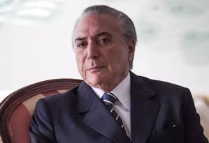 O vice-presidente Michel Temer Foto: André Coelho / Arquivo O Globo - 16/07/2014