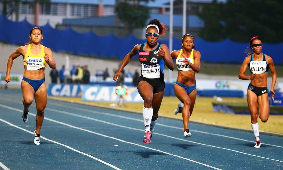 Campeã. Rosângela Santos vence os 100m rasos do Troféu Brasil de Atletismo, em São Bernardo do Campo Foto: Wagner Carmo/CBAt