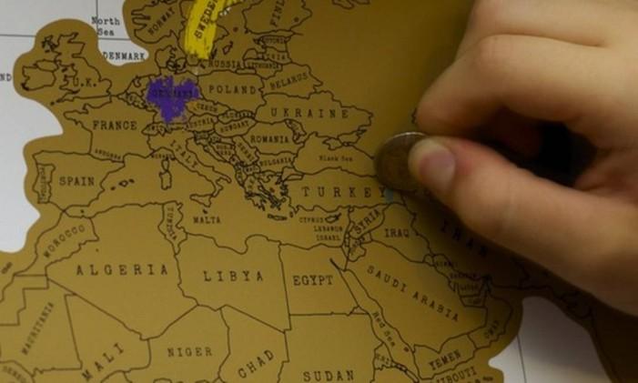 Países podem ser raspados com uma moeda Foto: Divulgação