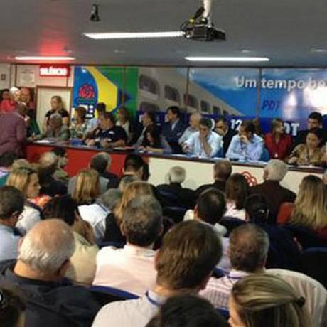 PDT fez a reunião do diretório nacional nesta sexta-feira Foto: Divulgação