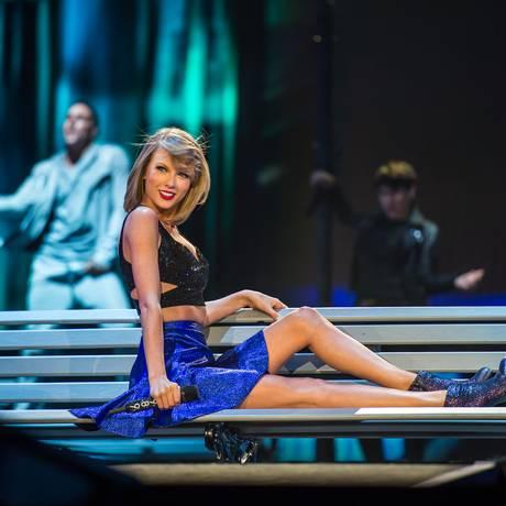 Taylor Swift no palco do Rock in Rio USA Foto: Divulgação