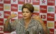 Dilma durante a campanha em 2014: candidata do PT arrecadou R$ 318 milhões