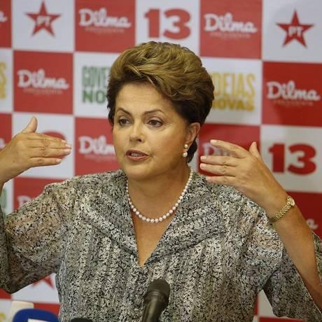 Dilma durante a campanha em 2014: candidata do PT arrecadou R$ 318 milhões Foto: Domingos Peixoto