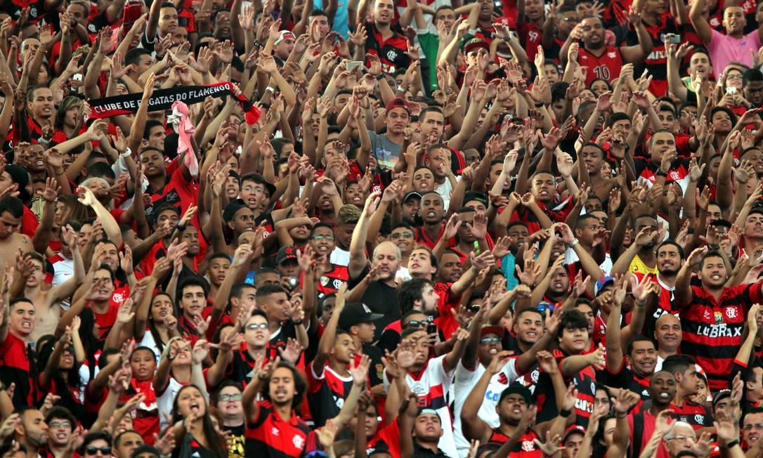 A torcida do Flamengo faz festa no Maraca Cezar Loureiro / Agência O Globo