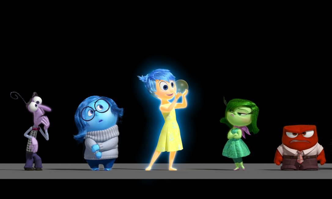 Por dentro do cérebro: Medo, Tristeza, Alegria, Desagrado e Raiva se relacionam na mente de uma garota de 11 anos Foto: Pixar / Divulgação