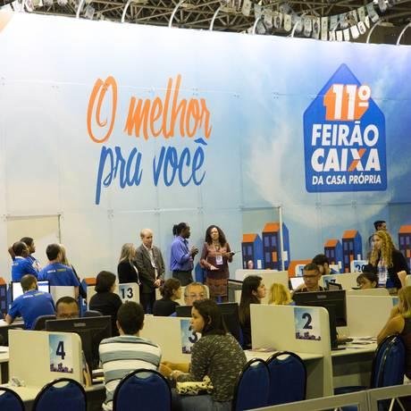 11º Feirão Caixa da Casa Própria no Riocentro, na Zona Oeste Foto: Terceiro / Agência O Globo