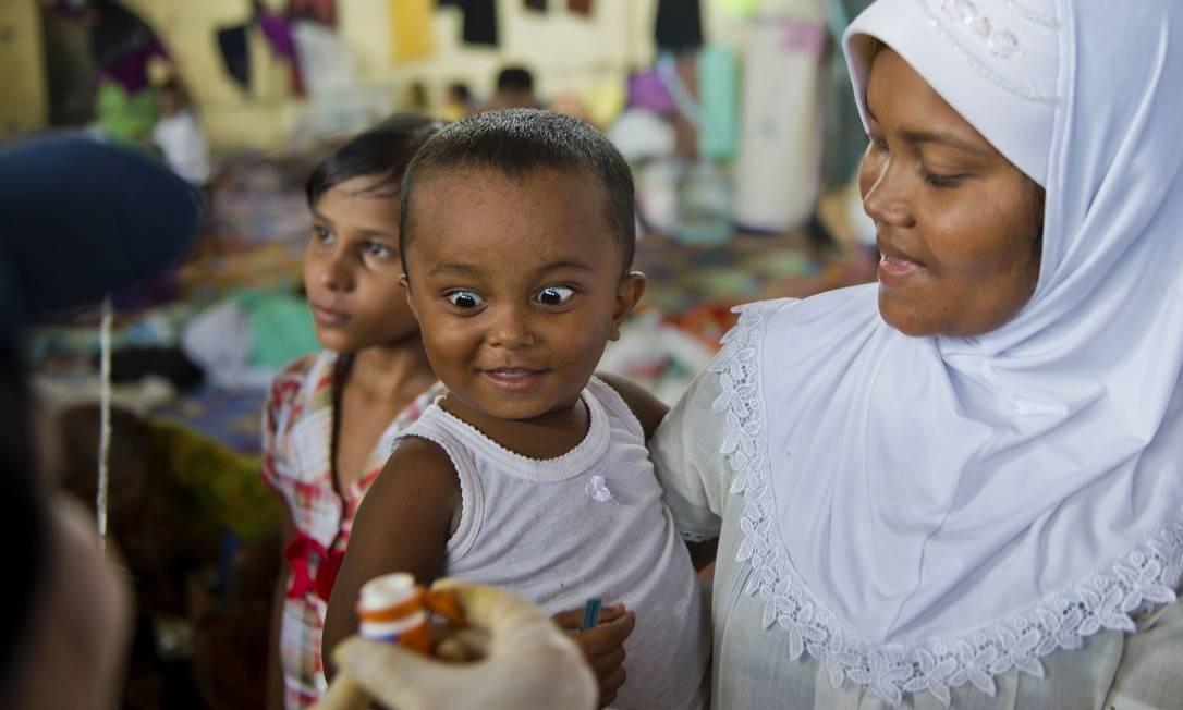 Os rohingyas são um povo muçulmano apátrida, considerados uma da sminorias mais perseguidas do mundo, segundo a ONU Foto: ROMEO GACAD / AFP