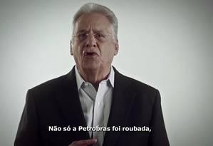 Fernando Henrique Cardoso vai participar do programa de TV do PSDB nesta terça-feira Foto: Reprodução de vídeo