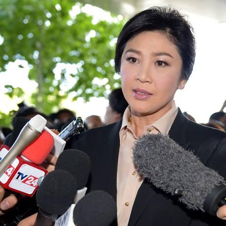Yingluck Shinawatra diz ser inocente das acusações de negligência. Foto: PORNCHAI KITTIWONGSAKUL / AFP