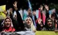 Manifestantes pró-Irmandade Muçulmana: homens, mulheres e crianças estão sujeitos a agressões
