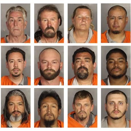 Fichados: quase 200 motoqueiros foram presos no Texas pela briga que terminou com 9 mortos Foto: AP