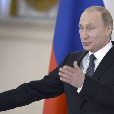 O presidente russo durante encontro no Kremlin, esta semana Foto: POOL / REUTERS