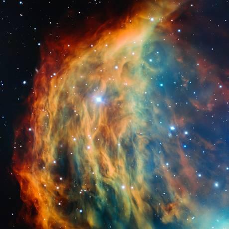 A imagem mais detalhada já feita da Nebulosa da Medusa, captada por astrônomos com o telescópio VLT, do Observatório Europeu do Sul (ESO), no Chile Foto: ESO