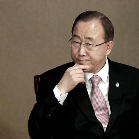 Ban Ki-moon participa do Fórum do Impacto Acadêmico das Nações Unidas, em Seul Foto: Ahn Young-joon / AP