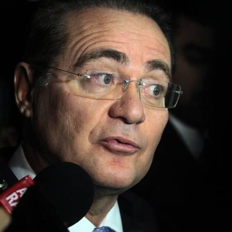 O presidente do Senado, Renan Calheiros (PMDB-AL). Foto: Jorge William / Agência O Globo